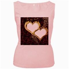 Lover Romantic Couple Apart Women s Pink Tank Top