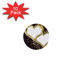 Lover Romantic Couple Apart 1  Mini Buttons (10 Pack)  by Nexatart