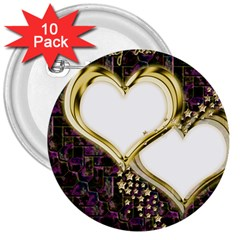 Lover Romantic Couple Apart 3  Buttons (10 Pack)