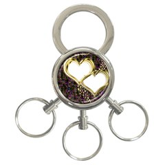 Lover Romantic Couple Apart 3 Ring Key Chains by Nexatart