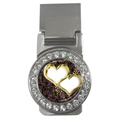 Lover Romantic Couple Apart Money Clips (cz)
