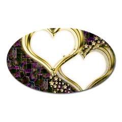 Lover Romantic Couple Apart Oval Magnet by Nexatart