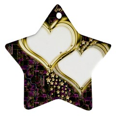 Lover Romantic Couple Apart Star Ornament (two Sides) by Nexatart