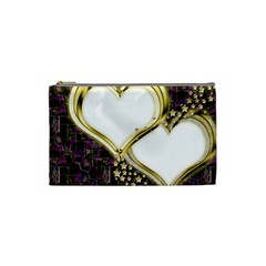 Lover Romantic Couple Apart Cosmetic Bag (small)  by Nexatart