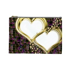 Lover Romantic Couple Apart Cosmetic Bag (large)  by Nexatart