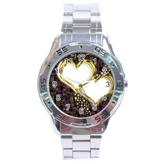 Lover Romantic Couple Apart Stainless Steel Analogue Watch
