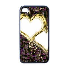 Lover Romantic Couple Apart Apple Iphone 4 Case (black)