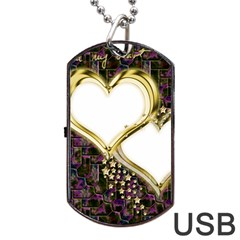 Lover Romantic Couple Apart Dog Tag Usb Flash (one Side) by Nexatart