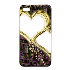 Lover Romantic Couple Apart Apple Iphone 4/4s Seamless Case (black) by Nexatart