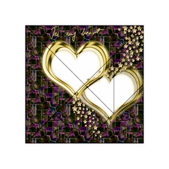 Lover Romantic Couple Apart Acrylic Tangram Puzzle (4  X 4 ) by Nexatart