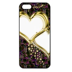 Lover Romantic Couple Apart Apple Iphone 5 Seamless Case (black)