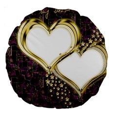 Lover Romantic Couple Apart Large 18  Premium Round Cushions by Nexatart
