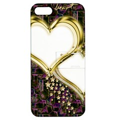 Lover Romantic Couple Apart Apple Iphone 5 Hardshell Case With Stand by Nexatart