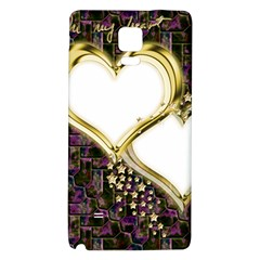 Lover Romantic Couple Apart Galaxy Note 4 Back Case by Nexatart