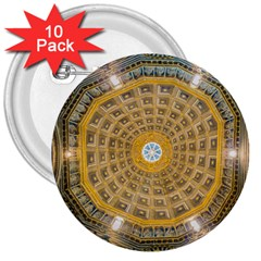 Arches Architecture Cathedral 3  Buttons (10 Pack)