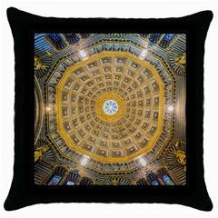 Arches Architecture Cathedral Throw Pillow Case (black) by Nexatart