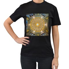 Arches Architecture Cathedral Women s T Shirt (black) (two Sided)