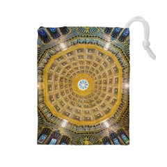 Arches Architecture Cathedral Drawstring Pouches (large)  by Nexatart