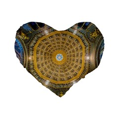 Arches Architecture Cathedral Standard 16  Premium Flano Heart Shape Cushions by Nexatart