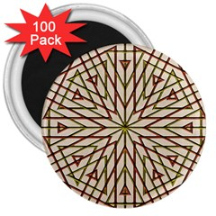 Kaleidoscope Online Triangle 3  Magnets (100 Pack) by Nexatart