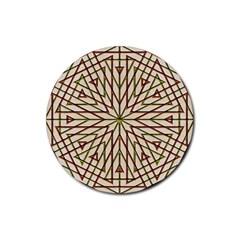 Kaleidoscope Online Triangle Rubber Round Coaster (4 Pack)  by Nexatart
