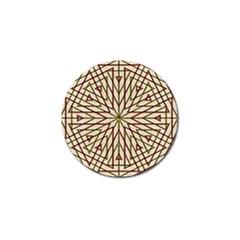 Kaleidoscope Online Triangle Golf Ball Marker (4 Pack) by Nexatart