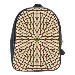 Kaleidoscope Online Triangle School Bags(large)  by Nexatart