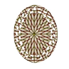 Kaleidoscope Online Triangle Oval Filigree Ornament (two Sides) by Nexatart