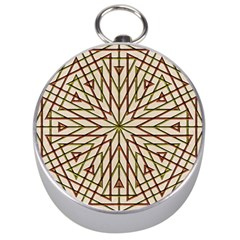Kaleidoscope Online Triangle Silver Compasses by Nexatart