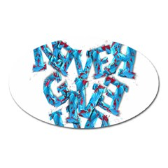 Sport Crossfit Fitness Gym Never Give Up Oval Magnet by Nexatart
