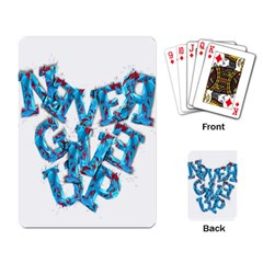 Sport Crossfit Fitness Gym Never Give Up Playing Card by Nexatart