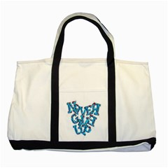 Sport Crossfit Fitness Gym Never Give Up Two Tone Tote Bag by Nexatart