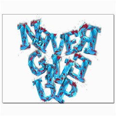Sport Crossfit Fitness Gym Never Give Up Canvas 8  X 10  by Nexatart