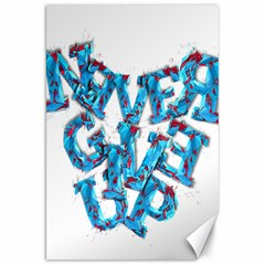 Sport Crossfit Fitness Gym Never Give Up Canvas 20  X 30