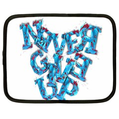 Sport Crossfit Fitness Gym Never Give Up Netbook Case (xl)