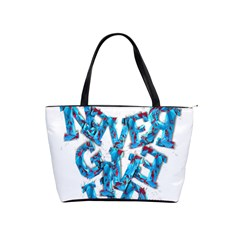 Sport Crossfit Fitness Gym Never Give Up Shoulder Handbags by Nexatart