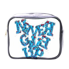 Sport Crossfit Fitness Gym Never Give Up Mini Toiletries Bags