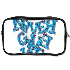 Sport Crossfit Fitness Gym Never Give Up Toiletries Bags by Nexatart