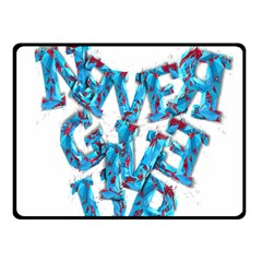 Sport Crossfit Fitness Gym Never Give Up Fleece Blanket (small)