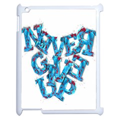 Sport Crossfit Fitness Gym Never Give Up Apple Ipad 2 Case (white)