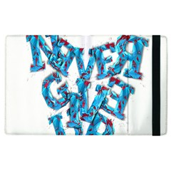 Sport Crossfit Fitness Gym Never Give Up Apple Ipad 3/4 Flip Case by Nexatart