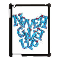 Sport Crossfit Fitness Gym Never Give Up Apple Ipad 3/4 Case (black) by Nexatart