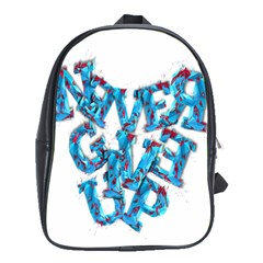 Sport Crossfit Fitness Gym Never Give Up School Bags (xl)  by Nexatart