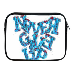 Sport Crossfit Fitness Gym Never Give Up Apple Ipad 2/3/4 Zipper Cases by Nexatart
