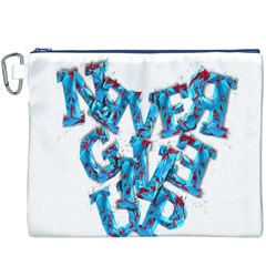 Sport Crossfit Fitness Gym Never Give Up Canvas Cosmetic Bag (xxxl) by Nexatart