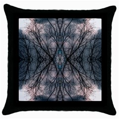 Storm Nature Clouds Landscape Tree Throw Pillow Case (black) by Nexatart