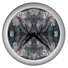 Storm Nature Clouds Landscape Tree Wall Clocks (silver)  by Nexatart