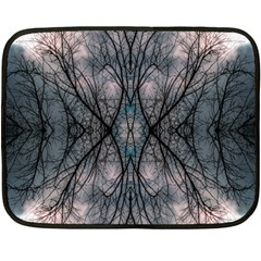 Storm Nature Clouds Landscape Tree Fleece Blanket (mini) by Nexatart