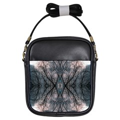 Storm Nature Clouds Landscape Tree Girls Sling Bags by Nexatart