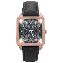Storm Nature Clouds Landscape Tree Rose Gold Leather Watch